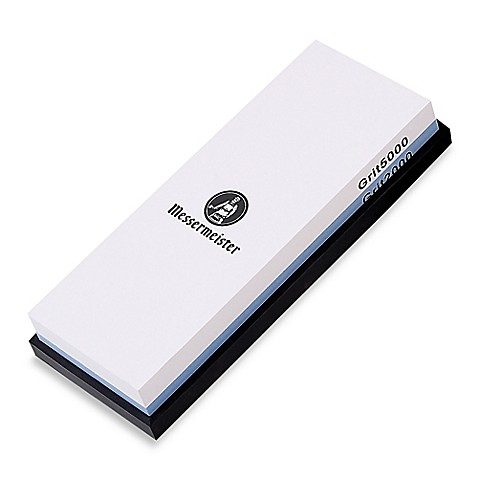Messermeister 2-Sided Grit 2000/5000 Water Sharpening Stone with Silicone Base Storage