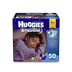 image of Huggies® Overnites Diapers 50-Count Size 5 Big Pack Diapers