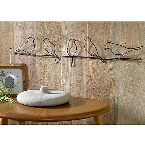 Bird on a Wire Metal Wall Art  sc 1 st  Bed Bath u0026 Beyond & Metal Wall Art | Metal Wall Decor | Bed Bath u0026 Beyond
