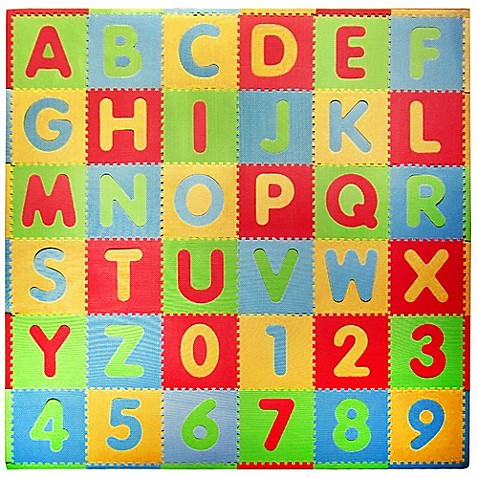 Tadpoles™ by Sleeping Partners ABC 36-Piece Playmat Set in Modern Multicolor