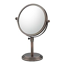 Classic 5X/1X Adjustable Vanity Mirror In Bronze