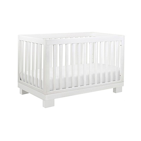 Babyletto modo 3 in 1 convertible crib in white buybuy baby for Best value baby crib
