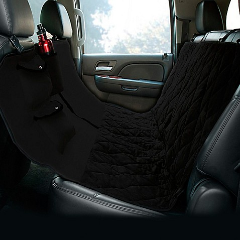 buy hammock style deluxe quilted micro suede car seat protector in black from bed bath beyond
