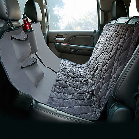 hammock style deluxe quilted micro suede car seat protector bed bath beyond. Black Bedroom Furniture Sets. Home Design Ideas