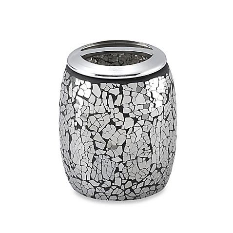 Black crackle toothbrush holder bed bath beyond for Black crackle bathroom accessories