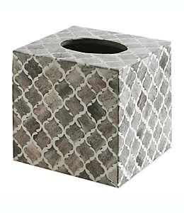 Kassatex Marrakesh Real Bone Cubierta para caja de pañuelos desechables en gris