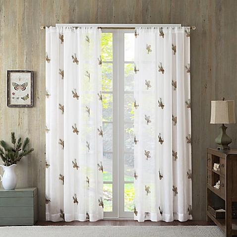 Pinecone Sheer Window Curtain Panel