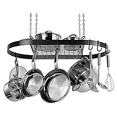 image of Range Kleen® Oval Hanging Pot Rack in Black