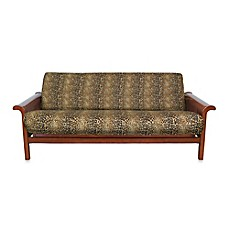 image of Loft NY Brushed Twill Full Futon Cover in Cheetah Print