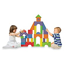 image of Verdes 52-Piece Jumbo Foam Building Blocks Set