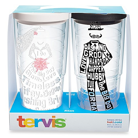 image of tervis dress and tuxedo wrap tumblers with lids - Tervis Tumblers