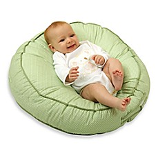 image of Leachco® Podster® Sling-Style Infant Lounger in Green Pin Dot
