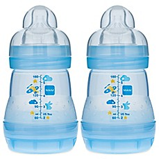 image of MAM 2-Pack 5 oz. Anti-Colic Bottle in Blue