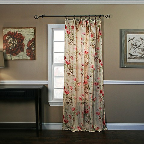 Buy Balmoral 63 Inch Window Curtain Panel In Red From Bed