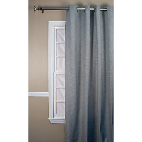 buy landis 63 inch window curtain panel in black from bed bath beyond. Black Bedroom Furniture Sets. Home Design Ideas