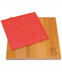 Set de tabla para picar y protector para superficies de silicón Zwilling® J.A. Henckels de 22.86 cm