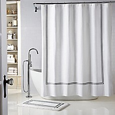 image of Wamsutta  Baratta Stitch Shower Curtain Bathroom Ideas Curtains Rods Bed Bath Beyond