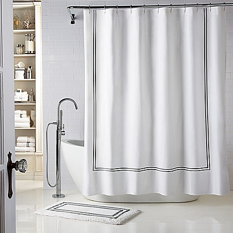 Image Of Wamsutta® Baratta Stitch Shower Curtain