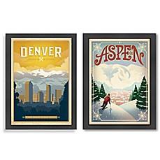Americanflat Colorado Framed Wall Art  sc 1 st  Bed Bath u0026 Beyond & colorado wall art | Bed Bath u0026 Beyond