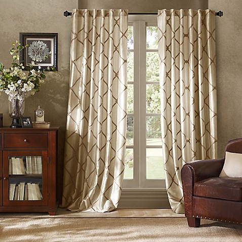 Garrison Embroidered Interlined Window Curtain Panels Bed Bath Beyond