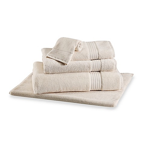 Buy frette at home milano hand towel in ivory from bed for Frette milano