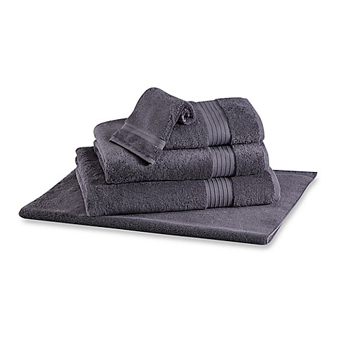 Buy frette at home milano hand towel in anthracite from for Frette milano