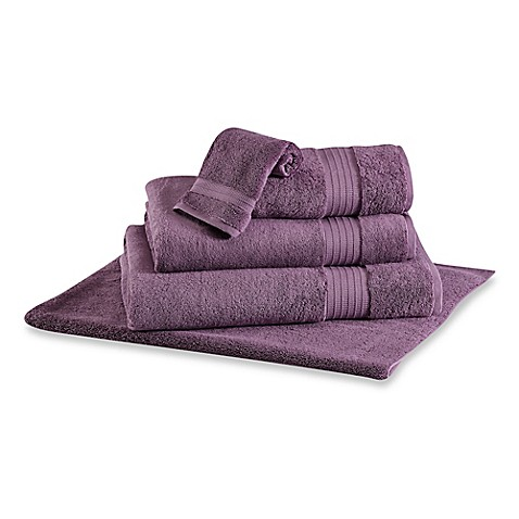 Buy frette at home milano hand towel in orchid from bed for Frette milano