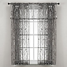 image of Downton Abbey® Duchess Collection Lace Window Valance in Pewter