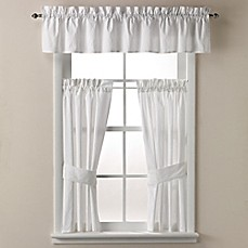 Image Of Wamsutta® Milano Bath Window Curtain Panel And Valance In White
