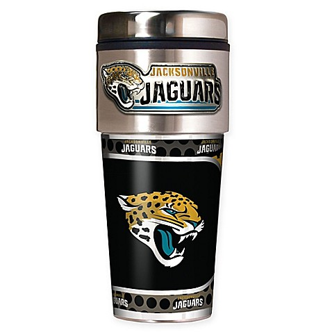 jaguars jacksonville tumbler nfl travel mug steel stainless metallic oz cups mugs team graphics 16oz ounce vinyl cup beyond bath