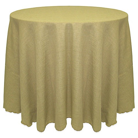 Buy havana rustic faux burlap 120 inch round tablecloth in for 120 inch round table cloths