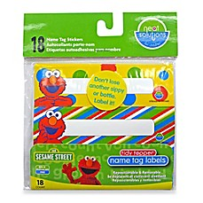 image of Hamco Neat Solutions® 18-Count Sesame Street Name Tag Stickers