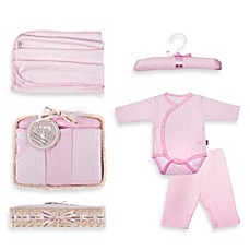 image of Tadpoles™ by Sleeping Partners Starburst Size 0-6M 5-Piece Layette Baby Gift Set in Pink