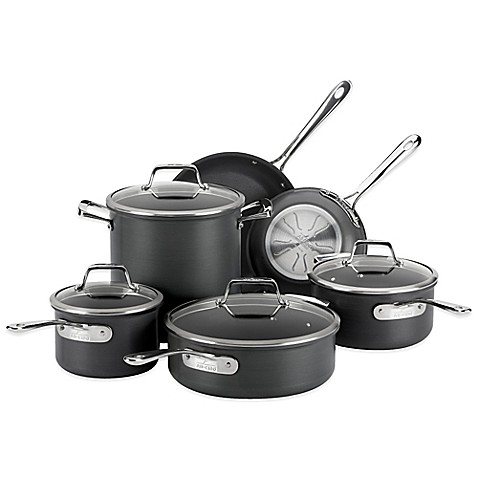 All Clad B1 Hard Anodized Nonstick 10 Piece Cookware Set