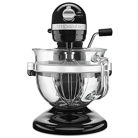 Buy kitchenaid pro 600 stand mixer with 6 quart glass bowl in black from bed bath beyond - Kitchenaid glass bowl attachment ...
