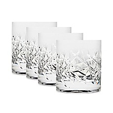 image of Top Shelf Graffiti 10 oz. Double Old Fashioned Glasses (Set of 4)