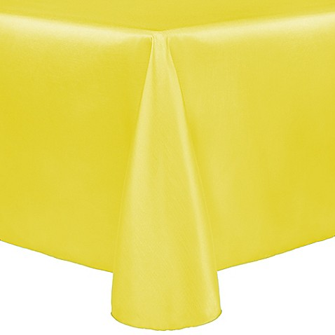 Buy majestic 60 inch x 120 inch oblong tablecloth in lemon for Tablecloth 52 x 120