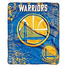 image of NBA Golden State Warriors Super-Plush Raschel Throw Blanket