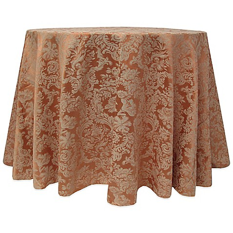 Buy Miranda Damask 90 Inch Round Tablecloth In Sienna From
