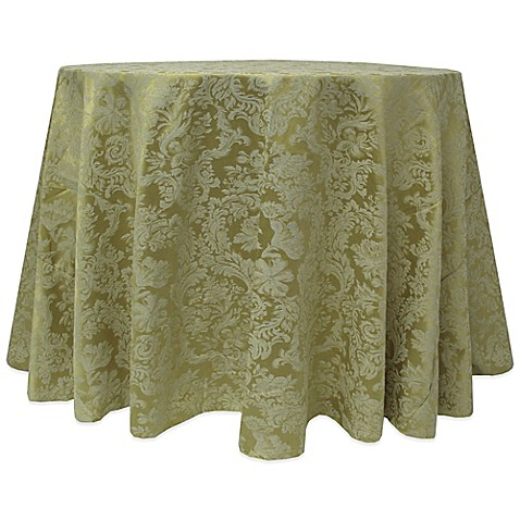 Buy miranda damask 120 inch round tablecloth in sage from for 120 inch table cloth