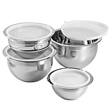 image of Oggi™ Professional Grade 4-Piece Mixing Bowl Set in Stainless Steel