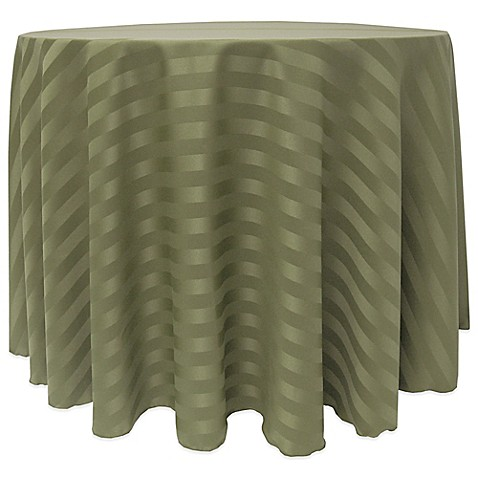 Buy poly stripe 108 inch round tablecloth in army green for 108 inch round table cloth