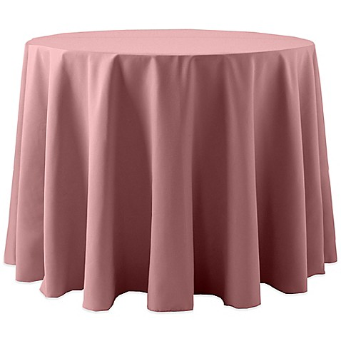 Buy spun polyester 108 inch round tablecloth in dusty rose for 108 inch round table cloth