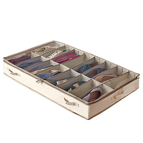 image of real simple garment storage underbed shoe bag