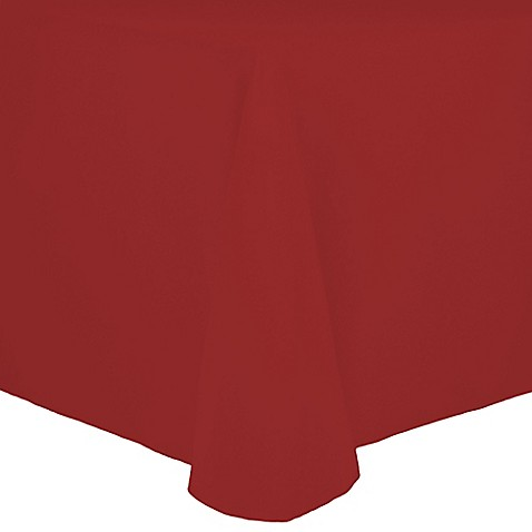 Buy Spun Polyester 90 Inch X 132 Inch Tablecloth In Red