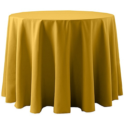 Buy spun polyester 120 inch round tablecloth in gold from for 120 inch round table cloths