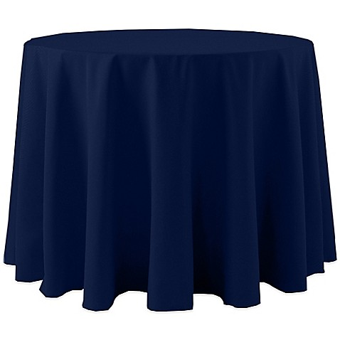 Buy spun polyester 120 inch round tablecloth in navy from for 120 inch round table cloths