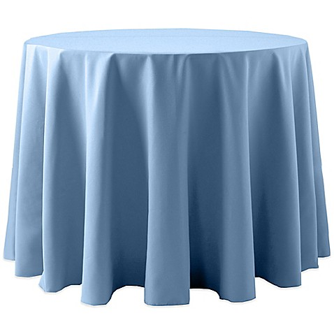 Buy Spun Polyester132 Inch Round Tablecloth In Light Blue