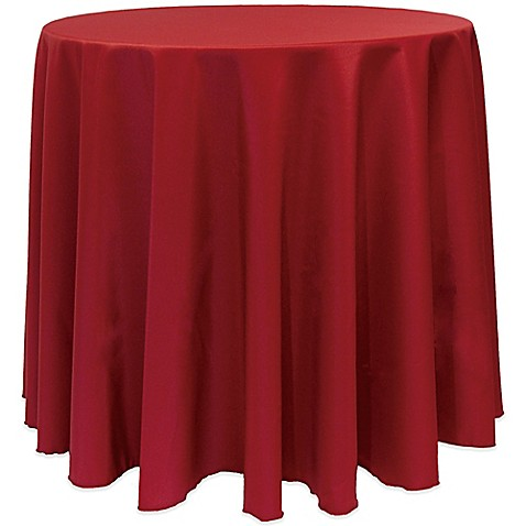 Basic 90 Inch Round Tablecloth In Cherry Red Bed Bath
