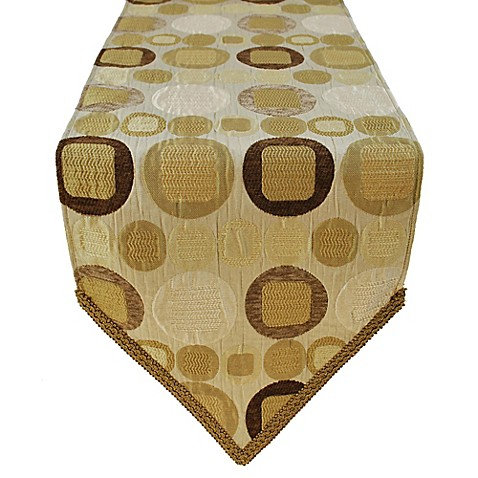 Buy sherry kline metro taupe 13 inch x 108 inch table for 108 inch table runners
